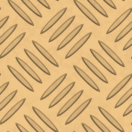 Gold Diamondplate Metal Seamless Texture Tile Stock Photo - 14316934
