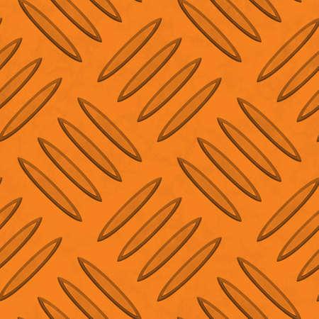 diamondplate: Orange Diamondplate Metal Seamless Texture Tile Stock Photo