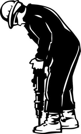 presslufthammer: Jackhammer, Vinyl-Ready Illustration Illustration