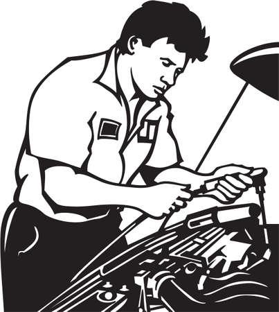 Illustration de vinyle Auto Mechanic Prêt Banque d'images - 14353853