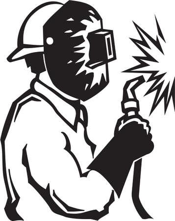 kaynakçı: Kaynakçı Vinil hazır İllüstrasyon