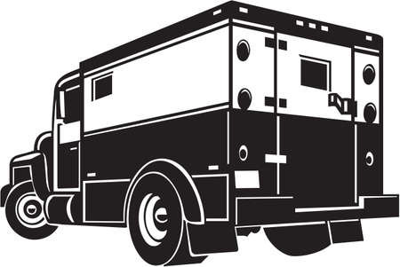Armored Car Vinyl Ready Illustration Vector