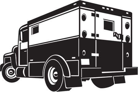 Armored Car Vinyl Ready Illustration