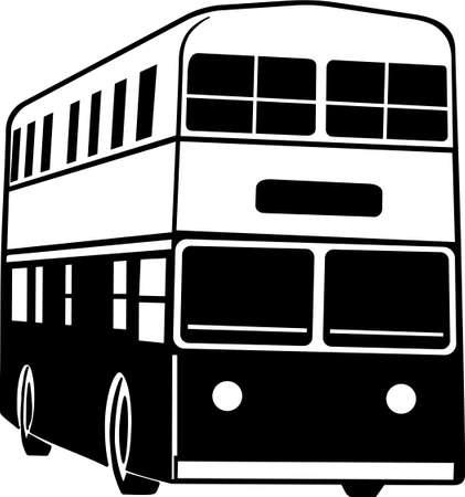 二重デッカー バス ビニール準備の図