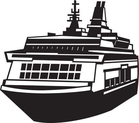 Ferry Vinyl Ready Illustration Stock fotó - 14353813