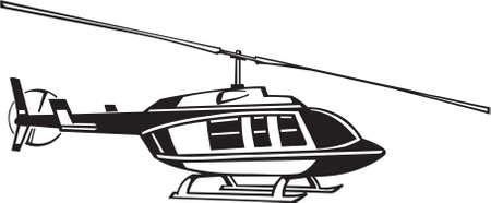Helicopter Vinyl Ready Illustration