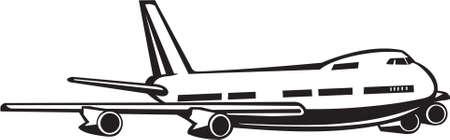 Jet Passenger Aircraft Vinyl Ready Illustration Ilustração
