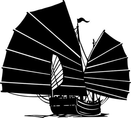 Chinese Junk Vinyl Ready Illustration Stock Vector - 14353875
