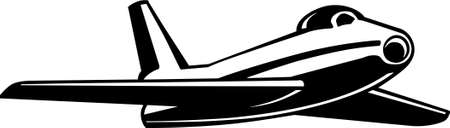 avion de chasse: Jet Fighter Aircraft Illustration Vinyl-Ready