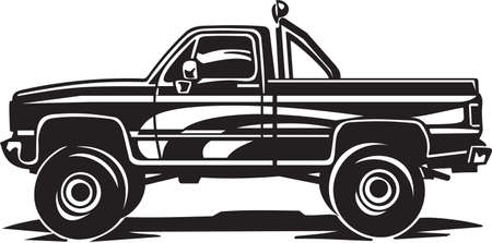 Pickup Truck Vinyl Ready Illustration