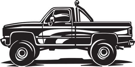 vinyl ready: Pickup Truck Vinyl Ready Illustration