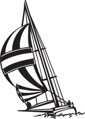 Sailboat Vinyl Ready Illustration
