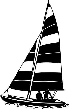 Sailboat Vinyl Ready Illustration Stock Vector - 14353844