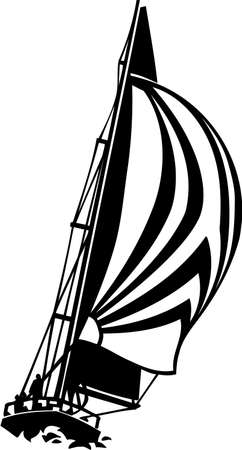 Sailboat Vinyl Ready Illustration Stock Vector - 14353856