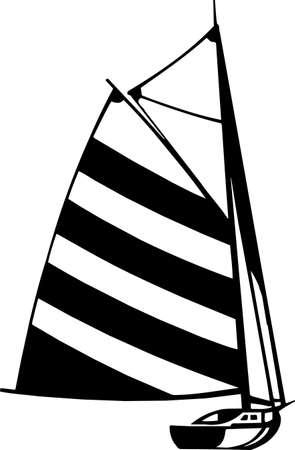 Sailboat Vinyl Ready Illustration Stock Vector - 14353843