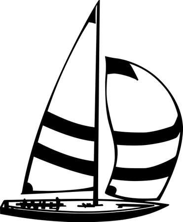 Sailboat Vinyl Ready Illustration Stock Vector - 14353850