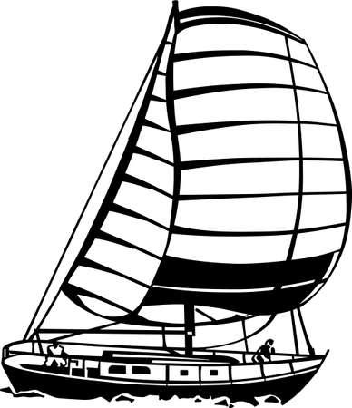 Sailboat Vinyl Ready Vector Illustration Stock Vector - 14353885
