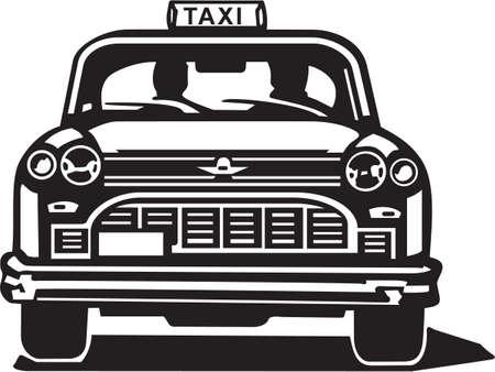 fare: Taxi Cab Vinyl Ready Illustration