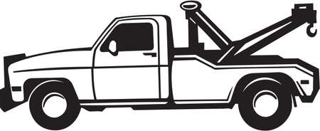 lorries: Tow Truck Vinyl Illustrazione Pronto