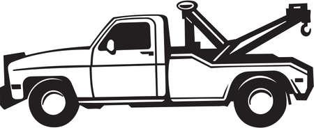 tow truck: Tow Truck Vinyl Ready Illustration