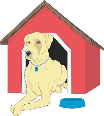 Dog House Illustratie