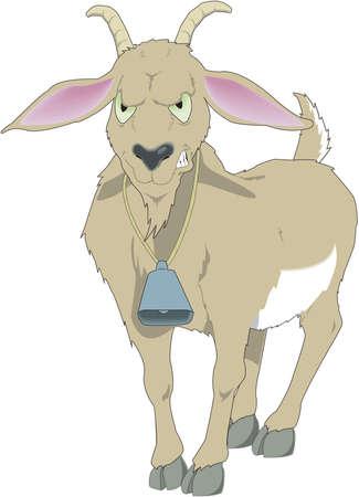 Historieta de la cabra de Billy Ilustración de vector