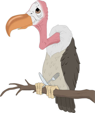 Vulture cartoon illustration. Illusztráció