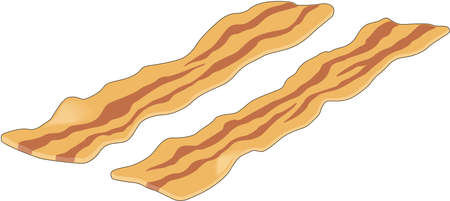 Bacon Strips Illustration