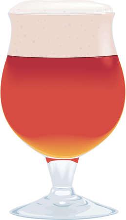 ale: Belgian Ale Illustration. Illustration