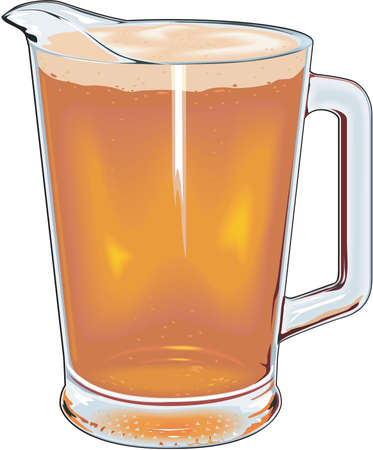 Pitcher of Beer Illustration.