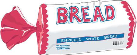 Bread loaf illustration.
