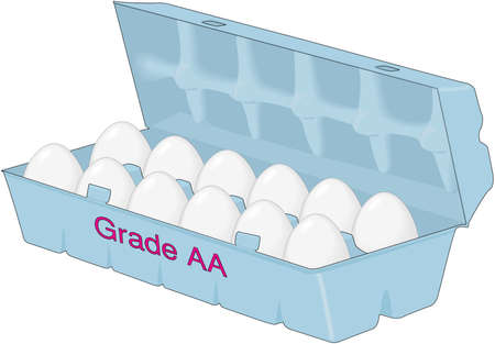 Carton of egg illustration.
