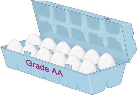 Carton of egg illustration.