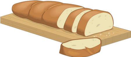 Frans brood illustratie Stock Illustratie
