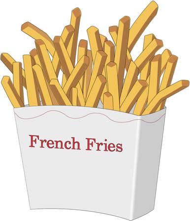 Franse gebakken aardappelen illustratie Stockfoto - 83978320