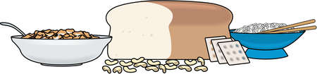 Grains Food Group Illustration