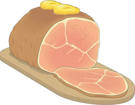Glazed Ham Illustration