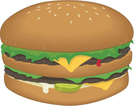 Hamburger Sandwich Illustration