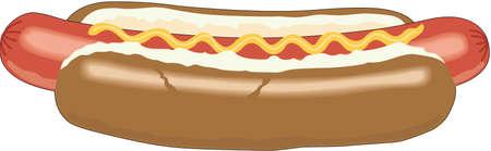 Ilustración de perro caliente Foto de archivo - 84056472