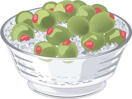 Olives Illustration