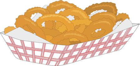 Onion Rings Illustration
