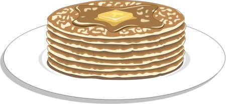 Pancakes Illustration Illustration