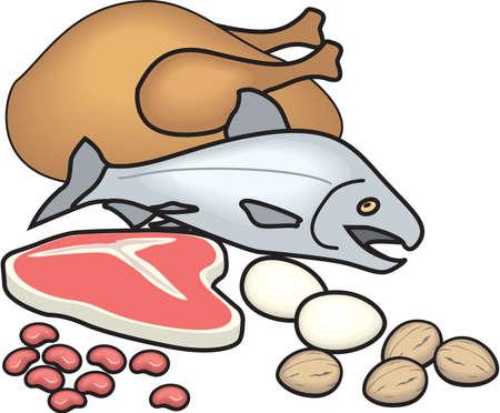Protein Food Group Illustration Ilustracja