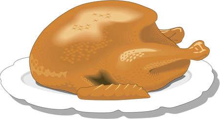 Roast Turkey Illustration Illusztráció