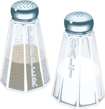 塩、コショウの図