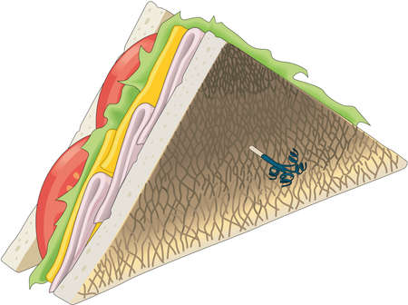 Club Sandwich Illustration