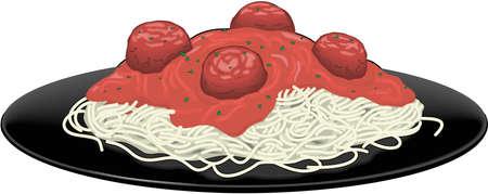 Spaghetti Illustration on white background Illusztráció