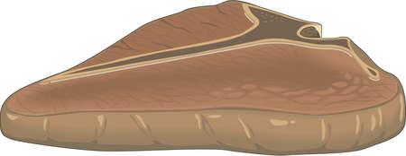 T-Bone Steak Illustration