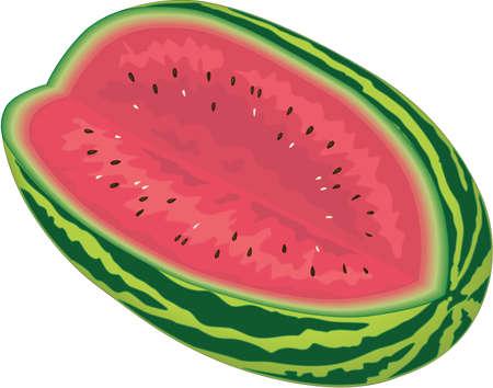 Watermeloen Illustratie Stockfoto - 83994041