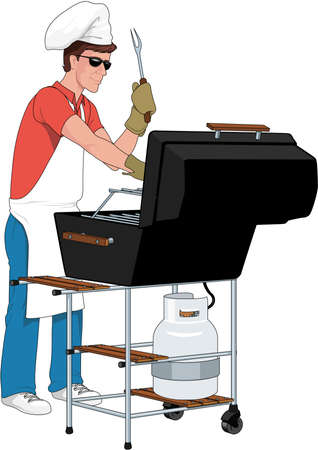 Grill-Illustration Standard-Bild - 83996269